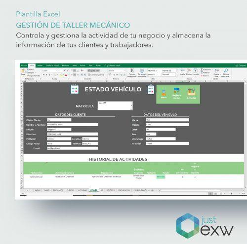 Plantilla Excel para vehículos
