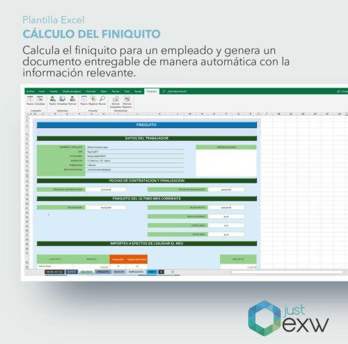 Calculadora de finiquito con Excel