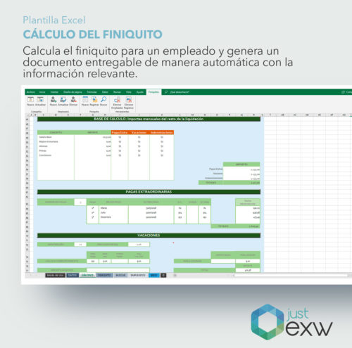 Finiquito en Excel