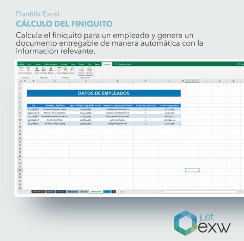 Calculadora de finiquito en Excel