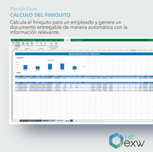 Plantilla de Excel de finiquito