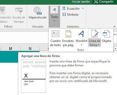 Firma digital en Excel
