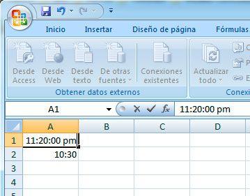 Formato militar en Excel