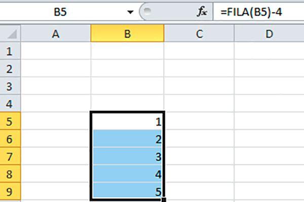 Las casillas de Excel para numerar fórmulas