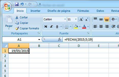 Función fecha en Excel