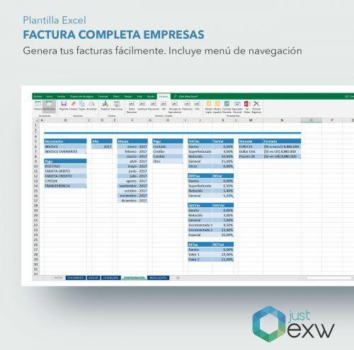 Crea facturas con Excel