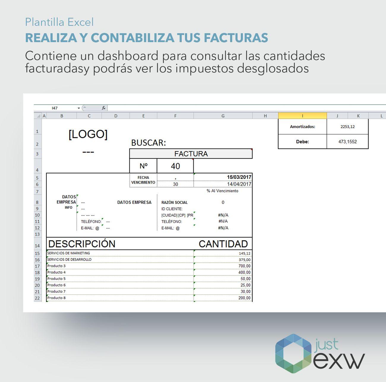 Plantilla Premium Generación y Registro de Facturas   Just EXW
