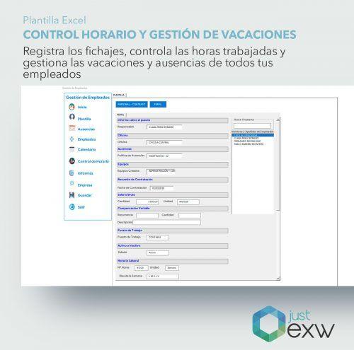 Ficha trabajador en Excel