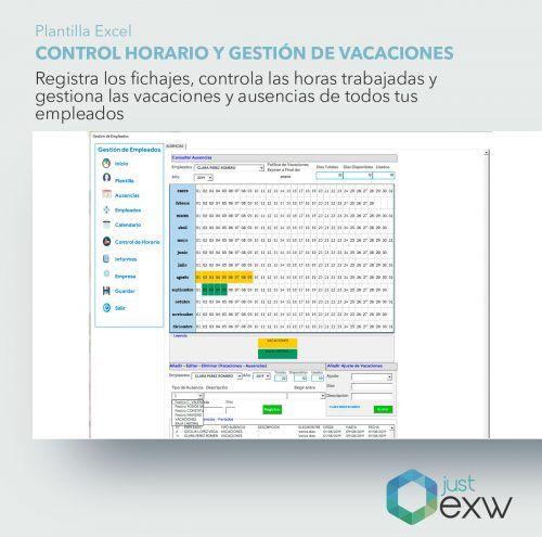 Calendario de vacaciones de los empleados en Excel