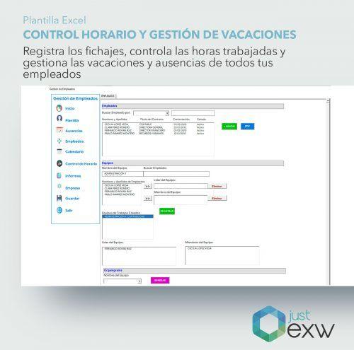 Gestión de departamentos de empresa en Excel