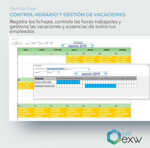 Plantilla para gestionar las vacaciones y ausencias de los trabajadores en excel
