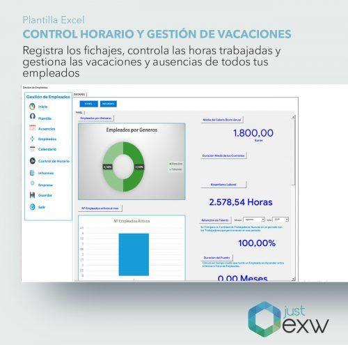 Indicadores recursos humanos en Excel