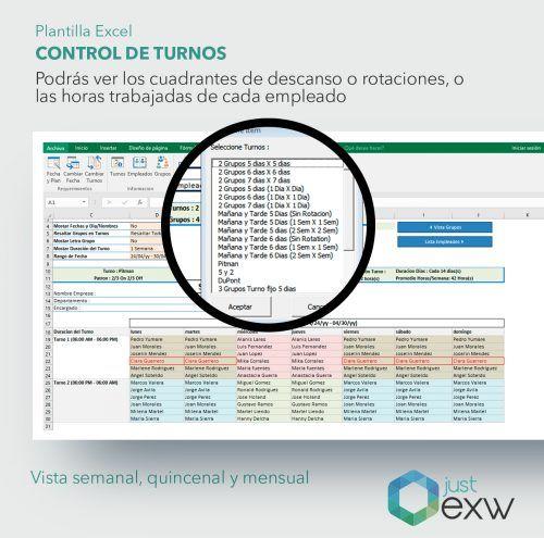 Turnos de empleados en Excel