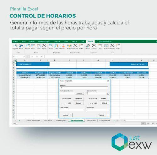 Excel para descargar horario trabajadores