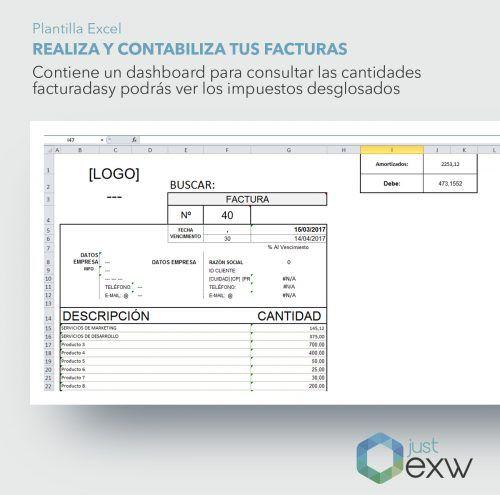 Plantilla Excel para controlar y gestionar facturas
