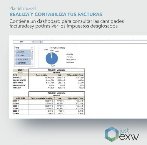 Contabiliza y genera tus facturas en Excel