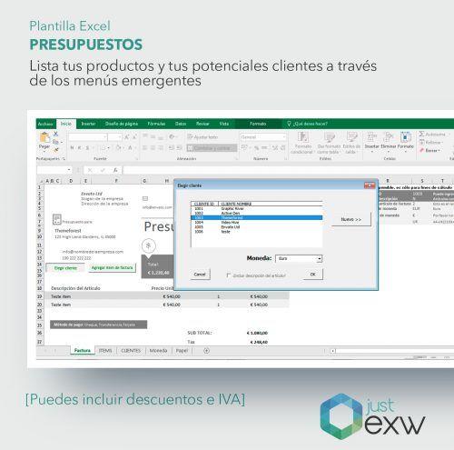 Presupuestos en Excel para empresas y autónomos