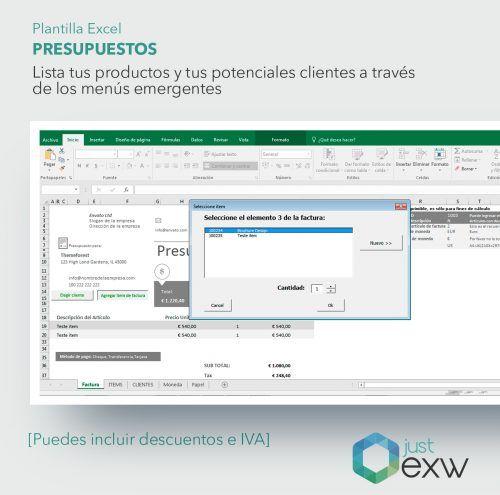 Plantilla de Excel para realizar presupuestos para empresas y autónomos