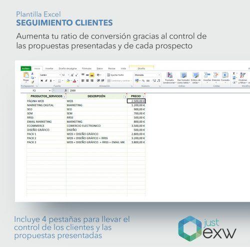 Excel para el control de las propuestas comerciales presentadas