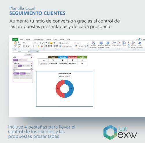 Control y seguimiento de clientes en Exel