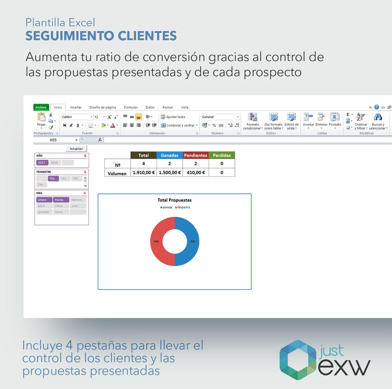 Plantilla Premium Seguimiento de Clientes | Plantilla de Excel de ...