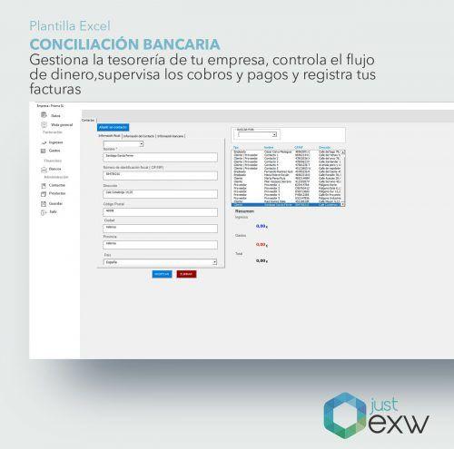 Plantilla de Excel conciliación