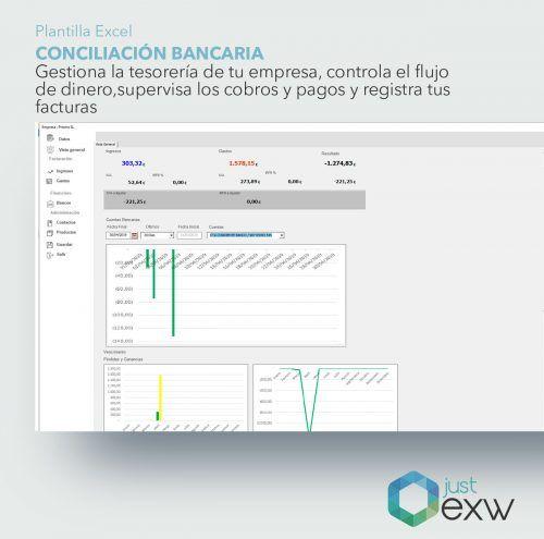 Plantilla de Excel para conciliar bancos