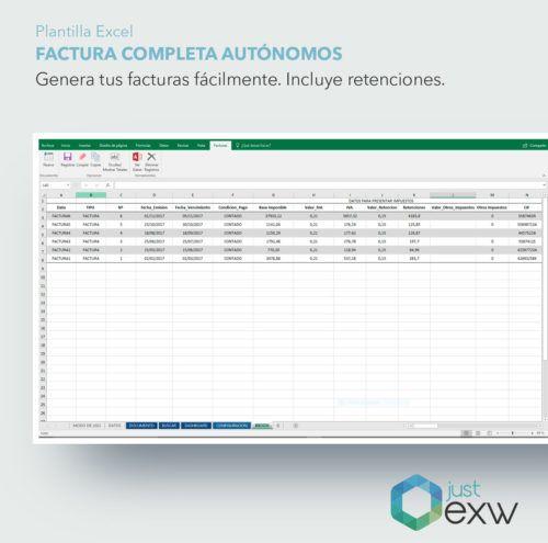 Plantilla de Excel para autónomos