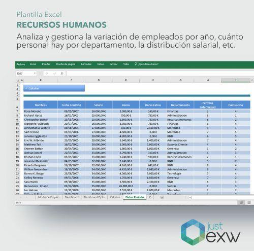 Excel para gestionar equipos de trabajo