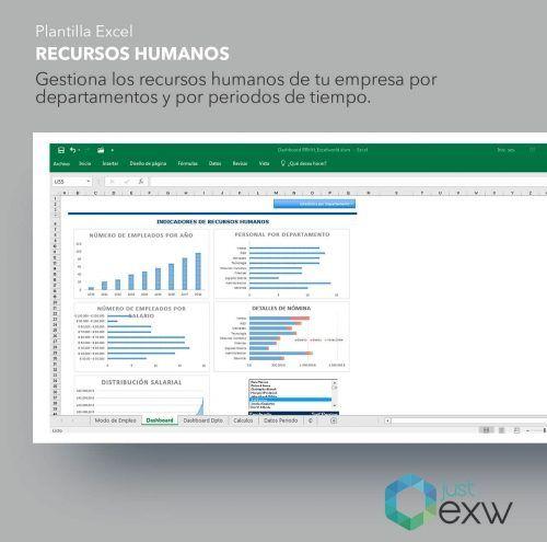 Plantilla gestión RRHH en Excel