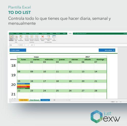 Excel para control de agenda y tareas pendientes