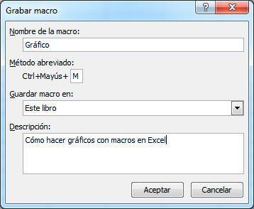 Grabar macro en Excel
