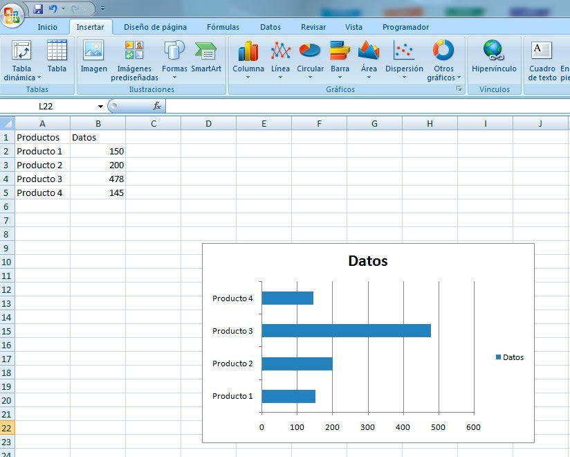 Gráfico de barras apiladas en Excel