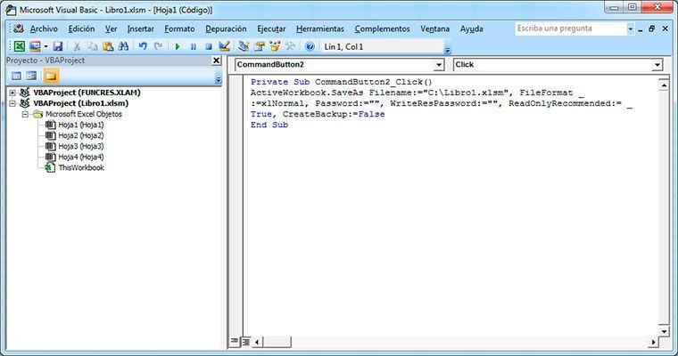 Guardar un archivo en Excel con Visual basic