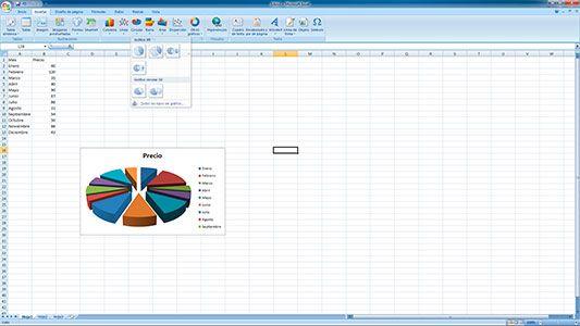 Hacer gráficos redondos en Excel