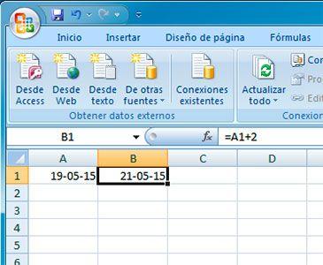 Hacer suma de fechas en Excel