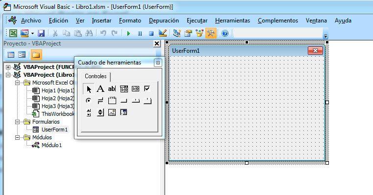 Hacer un formulario con Visual Basic en Excel