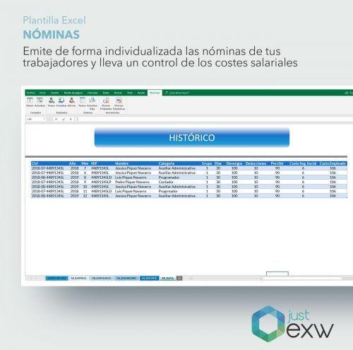 Control de nóminas con Excel