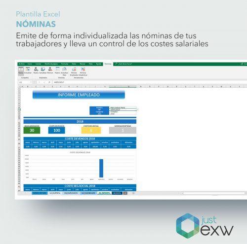 Crea informes de costes salariales con Excel