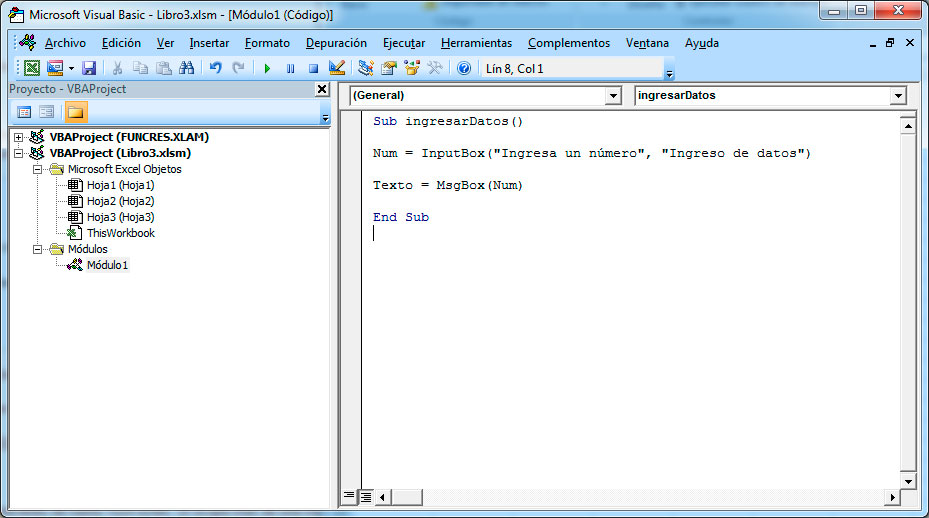 Ingresar datos en Excel con Visual Basic