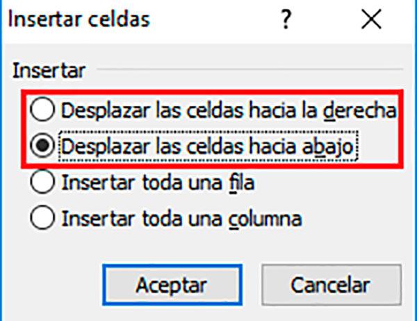 Agregar celdas en Excel rápidamente