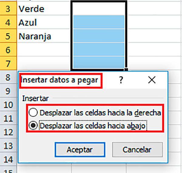 Insertar casillas en Excel con el ratón