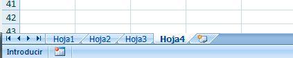 Crear nueva hoja en Excel