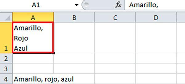 Añadir salto de línea en las casillas de Excel