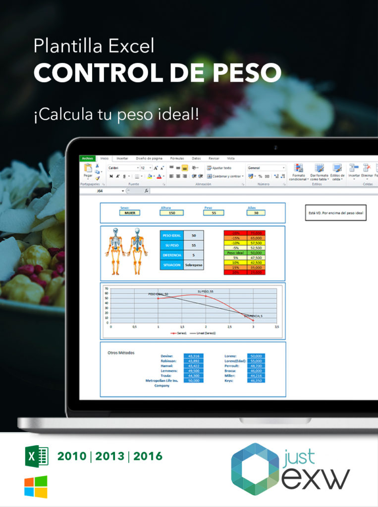 Excel para controlar el peso