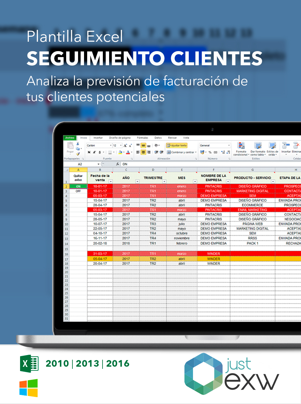 Seguimiento de clientes en Excel | Plantilla de seguimiento de clientes