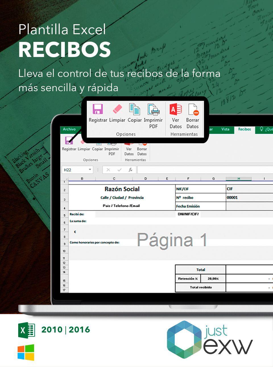 Plantilla de recibos en excel plantilla para descargar for Plantillas de nomina en excel gratis