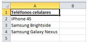 modificar los datos de una lista en Excel