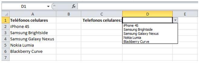 modificar los datos de una lista en Excel2