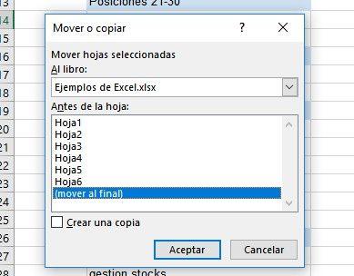 Fusionar libros de Excel